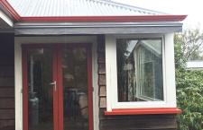 Red Painted French Door Keenan2