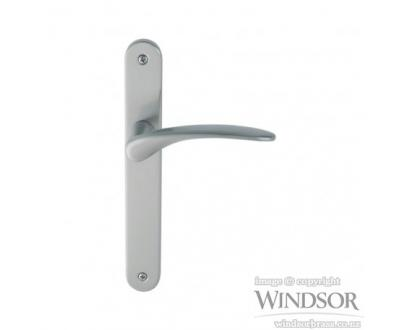 Apollo door handle from Windsor. Available in brushed nickel, satin chrome, powder coat and other finishes upon request.