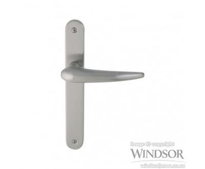 Luna door handle from Windsor. Available in brushed nickel, satin chrome, powder coat and other finishes upon request.